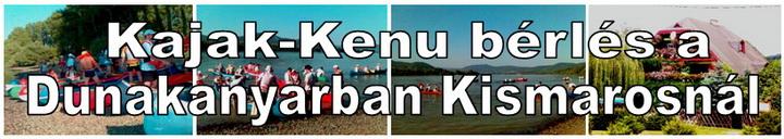 Kajak-Kenu bérlés a Dunakanyarban Kismarosnál
